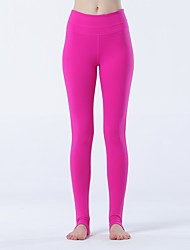 Yoga-Hose Strumpfhosen/Lange Radhose Atmungsaktiv / Leichtes Material Normal Hochelastisch Sportbekleidung Rot Damen Sport Yoga