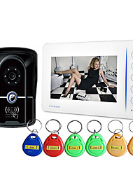 ID Card Type Rain 7 Inch Visual Doorbell