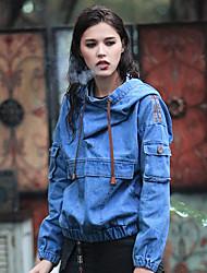 Aporia.As Women's V Neck Long Sleeve Hoodie & Sweatshirt Blue-MZ06055