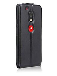 Pour Coque Motorola Clapet Coque Coque Intégrale Coque Couleur Pleine Dur Cuir PU pour Motorola Moto G4 Play MOTO G4 Moto E Moto Z Autre