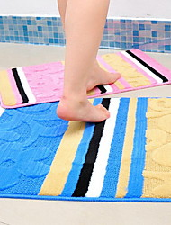 Flower Stripe Mat Kitchen Bathroom Water Mat