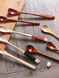 Natural Environmental Protection Log Long Wooden Spoon (random style)