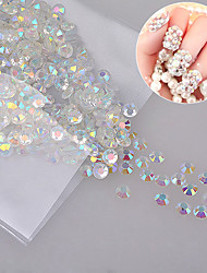 1000pcs/Bag Clear Crystal AB 3D Non HotFix FlatBack Nail Art Decorations Flatback Rhinestones
