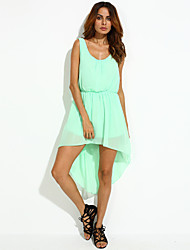 Women's Asymmetrical Sweet dress(chiffon)