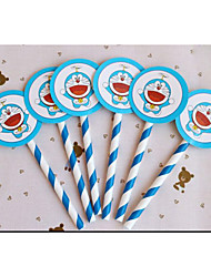 Birthday Party Tableware-6Piece/Set Cake Accessories Tag Hard Card Paper Rustic Theme Other Non-personalised