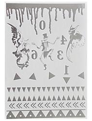 1 Tatouages Autocollants Séries bijoux Non Toxic / Motif / Waterproof / Glow in the Dark / Metallic / FlashHomme / Adulte flash Tattoo