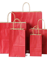 Garment  Mobile Shopping Bag Gift Bag Gift Packaging, Kraft Paper Bags Can Be Customized Logo A Pack Of Ten