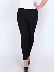 Pantalon Aux femmes Slim simple Nylon Elastique
