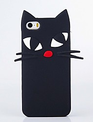 The New Tropia Long Beard Black Cat Soft Shell for iPhone5/5S/SE/6/6s/6 Plus/6S Plus