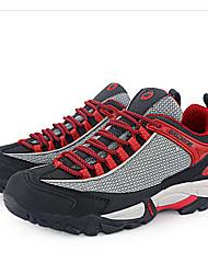 Men's Sneakers Spring Summer Comfort Tulle Outdoor Flat Heel Lace-up Orange Red Blue Hiking