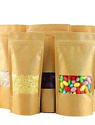 Multi-Size High-End Three-Frosted Window Paper Bags Thick Sealing Food Bags A Pack Of Ten Bags Of Biscuits