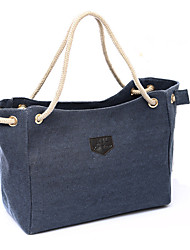 Women Linen Canvas Shopping Large Bag Simple Handbag Casual  Outdoor  Storage Shoulder Bag