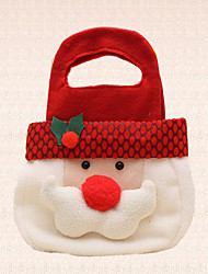 1pc Cute Santa Claus Head Christmas Hand Candy Bag Decoration Holiday Sweets Gift Party