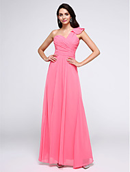 TS Couture Prom Formal Evening Dress - Elegant A-line One Shoulder Ankle-length Chiffon with Criss Cross