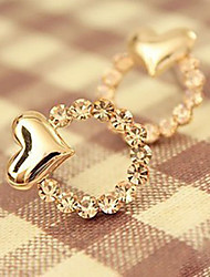 Earring Heart,Jewelry 1 pair Fashionable Alloy Gold Daily / Casual