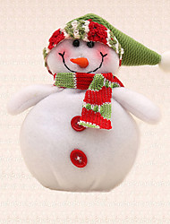 1pc Tree Hanging Pendant Green Hat Snowman Christmas Tree Decoration Home Dinner Party Supplies