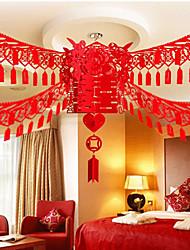 Персонализированный-Орнаменты(Красный,Экологичныйматериал