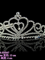 Beter Gifts®  1Piece/Set Women's Alloy Headpiece-Wedding / Special Occasion Tiaras Clear Round BETER-HH067