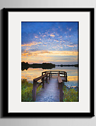 E-HOME® Framed Canvas Art, Twilight Of The Lake Framed Canvas Print One Pcs