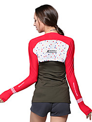 Tops Bike Breathable / Ultraviolet Resistant / Sunscreen Women's Red Polyester
