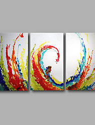 "Stretched (Ready to hang) Hand-Painted Oil Painting 48""x28"" Canvas Wall Art Modern Abstract Blue Yelow Red"