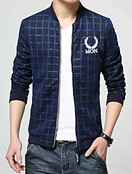 The new spring 2016 fashion male stamp jacket youth leisure coat Korean men's slim trend