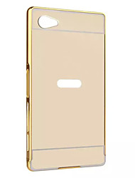 For Sony Xperia series Case Luxury Gold Plating Armor Aluminum Metal Frame + Mirror Acrylic Case Back Cover Hot
