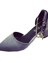 Women's Heels Spring Fall Comfort Synthetic Casual Low Heel Hook & Loop Black Red Gray Walking