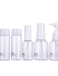 Keqi ® Cosmetic Bottles Plastic 6 in One Set With Bag Random Color