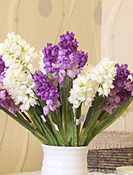Hi-Q 1Pc Decorative  Real Touch  Hyacinth Flower Wedding Home Table Decoration Artificial Flowers