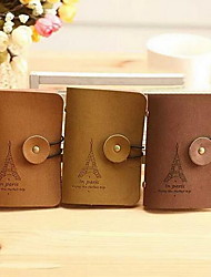 Vintage Imitation Leather Card Package Korean Suede Leather Bus Card Bank Card Bag (Random Color)