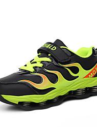 Para Meninos-Tênis-Conforto-Rasteiro-Verde / Azul Real-Couro Ecológico-Para Esporte