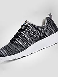 Men's Sneakers Spring / Fall Comfort Tulle Athletic Flat Heel Black / Blue / Gray Walking / Running