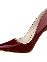 Women's Pull On Spikes Stilettos Patent Leather Pointed Closed Toe Pumps-Shoes
