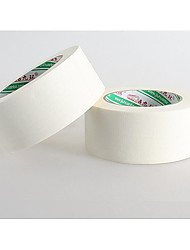 White Textured Paper Tape 2CM*50M Flat Rubber Anti Staining Masking Spray Paint Paper Tape