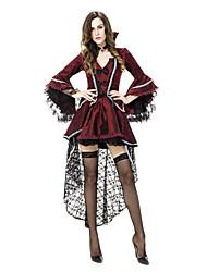 Costumes de Cosplay / Costume de Soirée Esprit / Zombie / Vampire Fête / Célébration Déguisement Halloween Rouge / Noir Vintage Robe