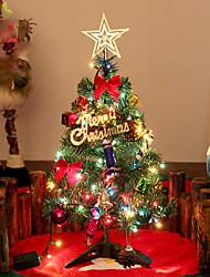 1pc levou o presente de Natal decoração de interiores mini-árvores de natal noite luz