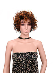 Black Brown Ombre Color Short Curly Women Wigs Synthetic Wigs