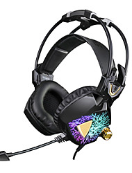 SADES SA913 7.1 Headphones with Microphone Vibration Volume Controller Multi-Color LED light for Gamers