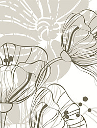 JAMMORY 3D Wallpaper For Home Contemporary Wall Covering Canvas Material Line Drawing Big Flower
