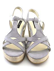 Women's Sandals shoes Wedges Fabric Casual Wedge Heel elegent comfotable increasing heel shoes