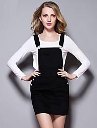 Sybel Frauen solid weiß / schwarze Röcke, simple / niedlich oberhalb des Knies