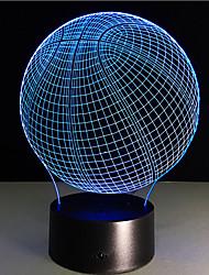 kosárlabda érintés fényerő 3d led éjszakai fény 7colorful dekoráció hangulat lámpa újdonság világítás karácsonyi fény