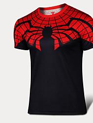 Corrida Camiseta / Pulôver Homens Manga Curta Respirável / Secagem Rápida / Confortável / Redutor de Suor Nailom / Náilon Chinês Corrida
