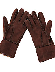 Winter Gloves Kid's Keep Warm Ski & Snowboard / Snowboarding Green / Black / Brown Canvas Free Size-Others