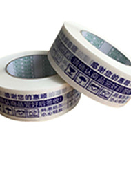 White Color, Other Material, Packaging & Shipping White background, Blue Font, Warnings Tape A Pack of Two