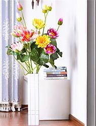 Hi-Q 1Pc Decorative Flowers Lotus Wedding Home Table Decoration Artificial Flowers