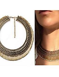 Gold Tassel Choker Necklace