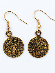 Silver Plated Gold Plated Alloy Fashion Circle Gold Silver Jewelry Wedding Party Daily Casual Sports 1 pair
