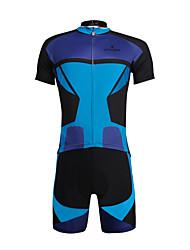 ILPALADINO Maillot de Ciclismo con Shorts Hombre Unisex Manga Corta Bicicleta Sets de Prendas Secado rápido Resistente a los UV